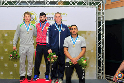 2LT Matthew Brown of the U.S. Army won a bronze medal at 74 kg/163 lbs. on the second day of the CISM World Military Wrestling Championships on Thursday.