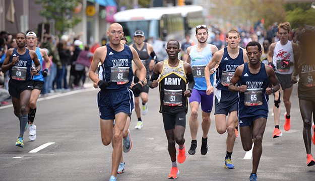 Navy men, Air Force women earn gold in Armed Forces marathon competition