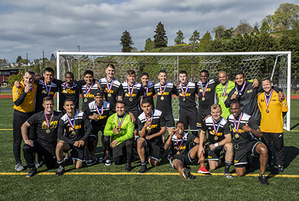 NAVAL STATION EVERETT, Wash. (April 20, 2019) Army wins the 2019 Armed Forces Men's Soccer Championship held at Naval Station Everett, Wash. from 14-20 April, featuring Service members from the Army, Marine Corps, Navy (including Coast Guard) and Air Force. (U.S. Navy photo by MC2 Ian Carver/Released)