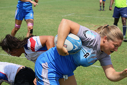 WILMINGTON, N.C. (June 6, 2019) Day one of the Inaugural Armed Forces Women's Rugby Championship held in Wilmington, N.C. from July 5-7, 2019.  This historic event features the best female Rugby players from the Army, Marine Corps, Navy, Air Force and Coast Guard, who will compete for the title of the first ever Women's Rugby Champs.  (U.S. Dept. of Defense photo by Mr. Steven Dinote/Released)