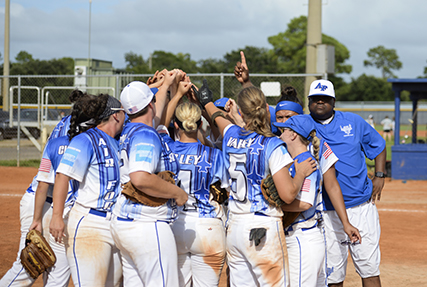 NAS PENSACOLA, Fla., Aug. 20, 2018 — Even the weather was not enough to prevent Air Force from capturing their second straight Armed Forces Women's Softball Championship held here at Barrancas Ball Fields, Naval Air Station Pensacola, Fla. from Aug 15-17.
