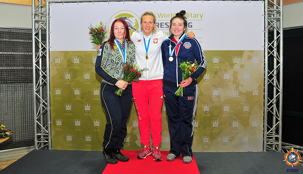 Anastasia Lobsinger wins bronze at CISM Military Worlds