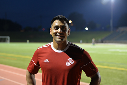 FORT BRAGG, N.C., June 11, 2018 —Team Captain for the All-Marine Corps Men's soccer team Gunnery Sgt. Alberto Boy, from Elmwood Park, Ill., has been playing soccer since he was three years old. While his passion turned to serving in the U.S. Marine Corps, his love for soccer remained.