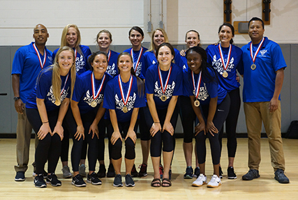 Establishing dominance by the end of the second day of the three-day tournament, the Air Force men's and women's teams were on the path to gold early at the 2018 Armed Forces Volleyball Championship at Hurlburt Field, Fla. from May 7-11.